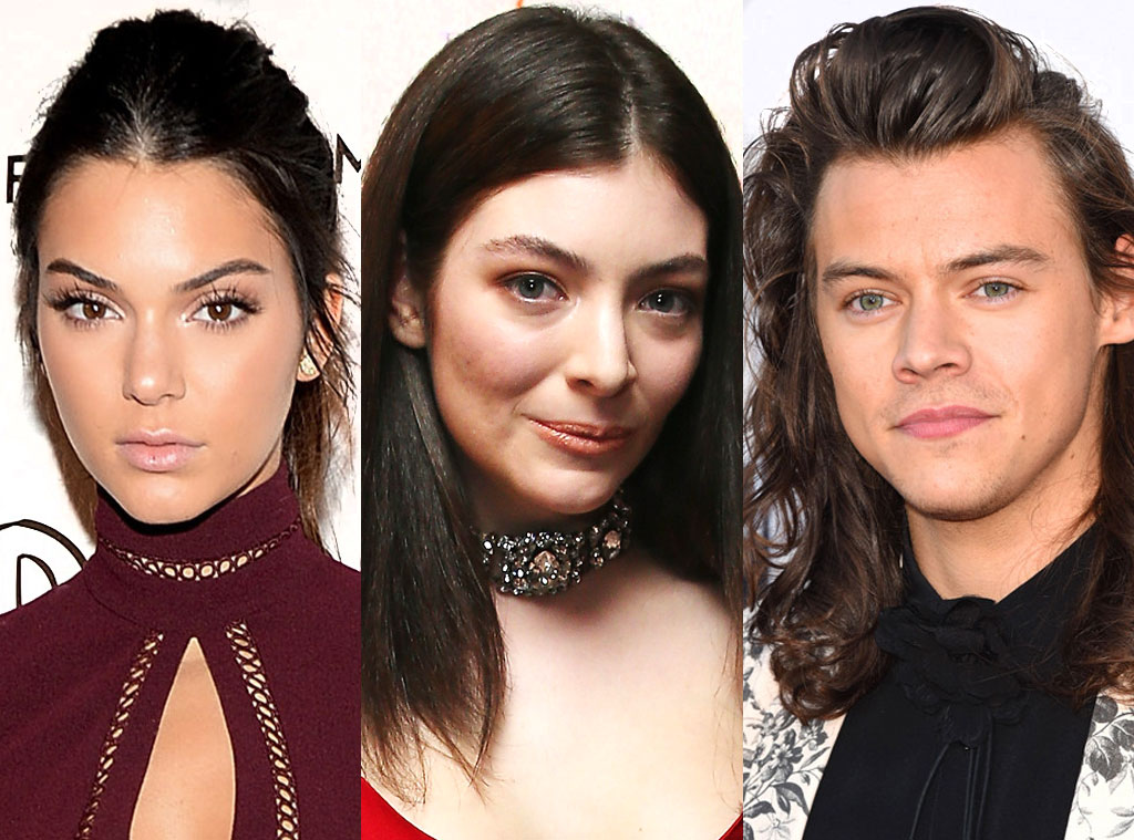 Harry Styles, Lorde, Kendall Jenner