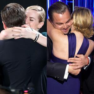 Leonardo DiCaprio, Kate Winslet, Hug