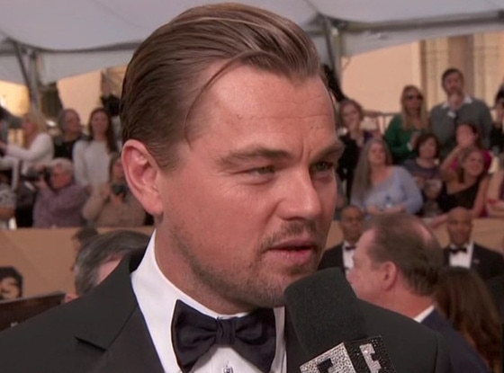 Leonardo DiCaprio, rogue hair, 2016 SAG Awards