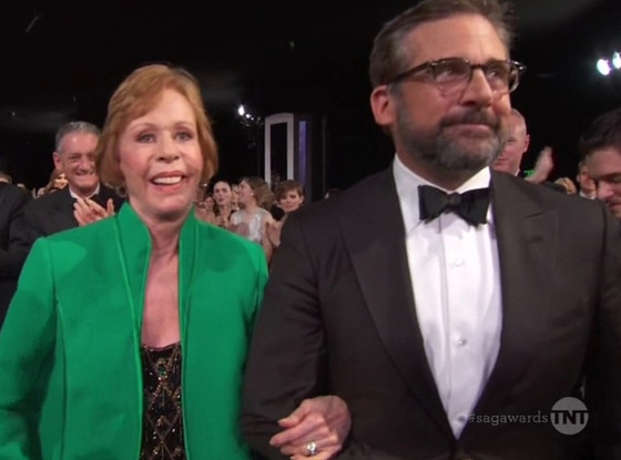 Steve Carell, Carol Burnett, 2016 SAG Awards
