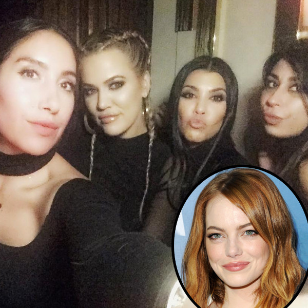 Kourtney Kardashian, Emma Stone, Instagram