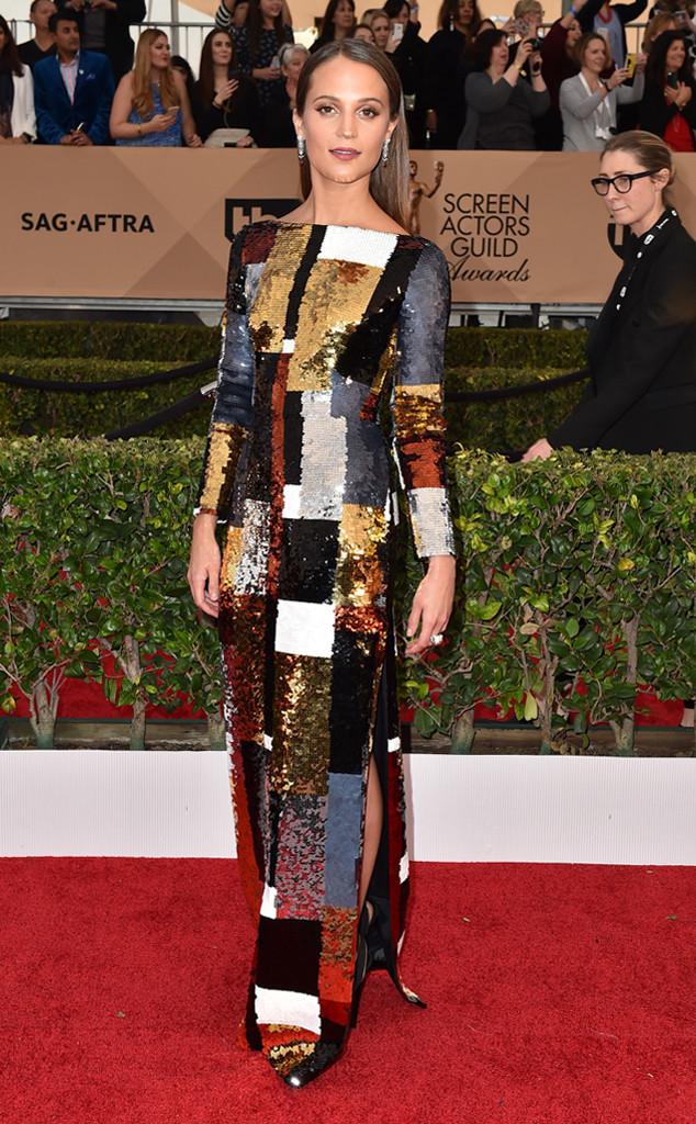 Alicia Vikander, SAG Awards 2016, Arrivals