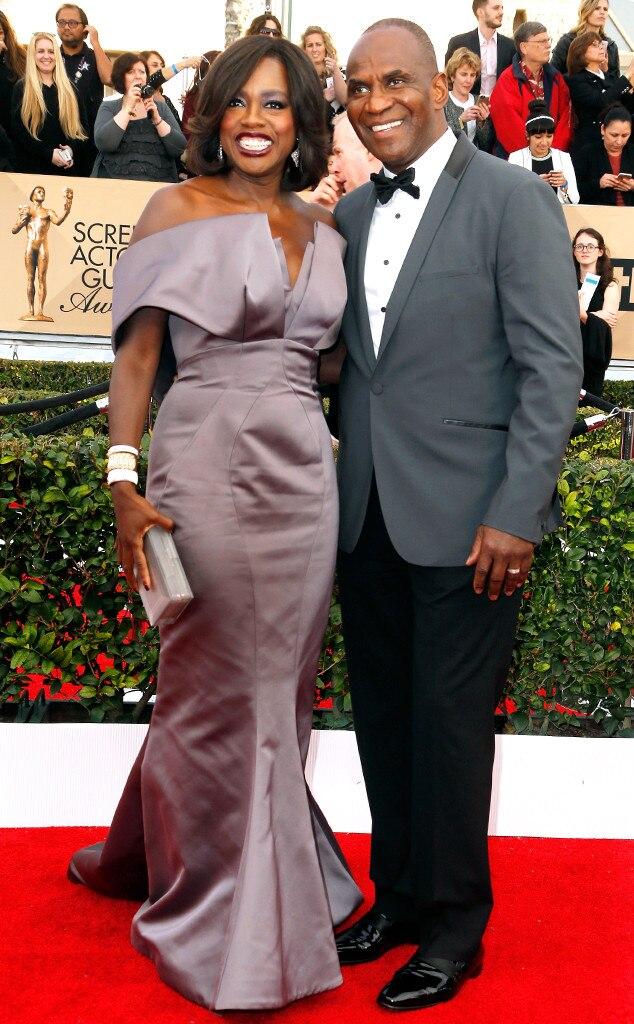 Viola Davis, Julius Tennon, SAG Awards 2016, Couples