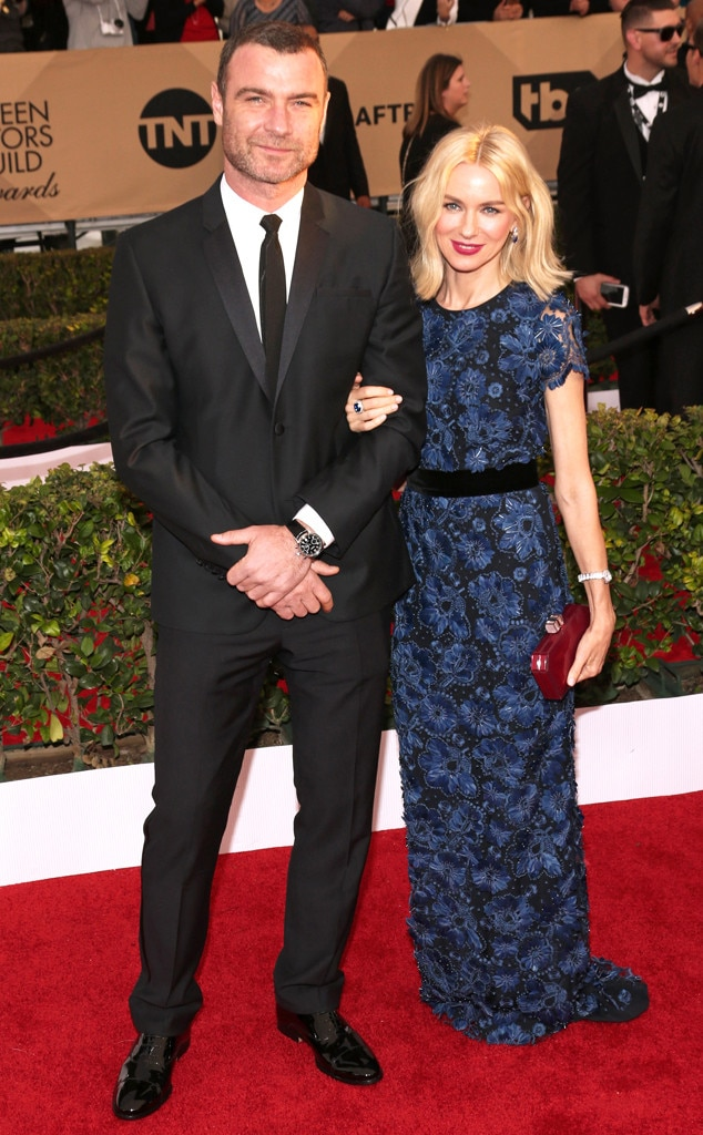 Liev Schreiber, Naomi Watts, SAG Awards 2016, Couples