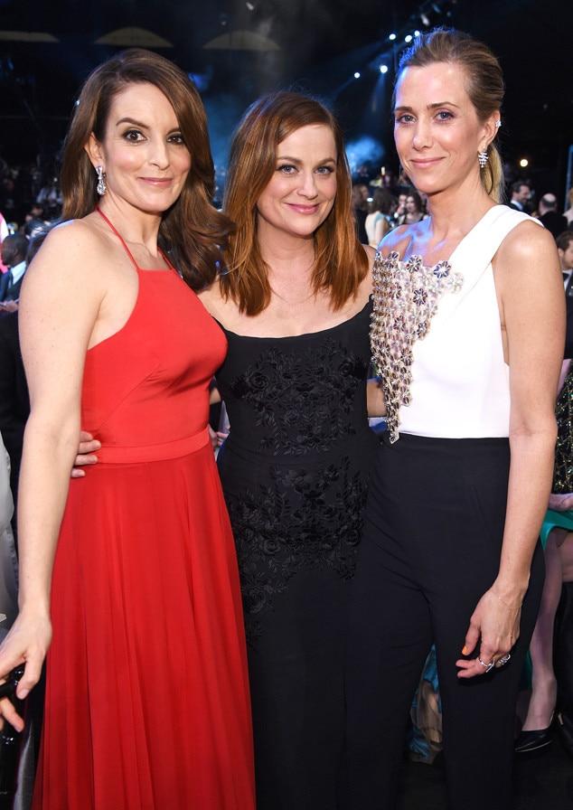 Tina Fey, Amy Poehler, Kristen Wiig, SAG Awards 2016, Candids