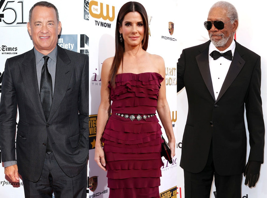 Morgan Freeman, Tom Hanks, Sandra Bullock