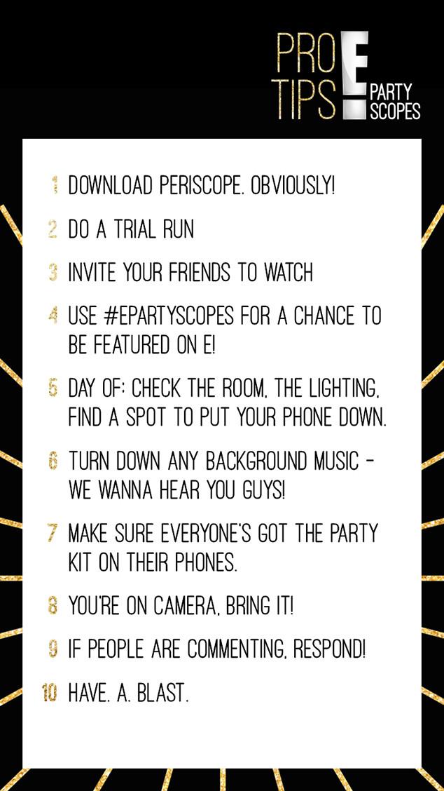 Partyscopes Pro Tips