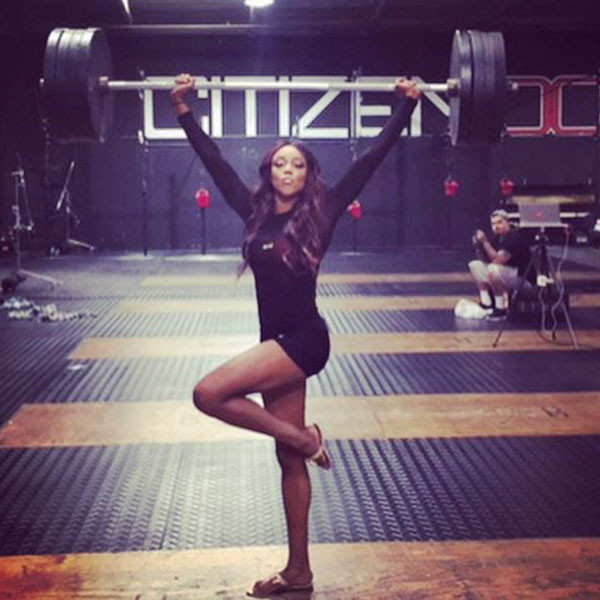 Alicia Fox From Divas Hit The Gym