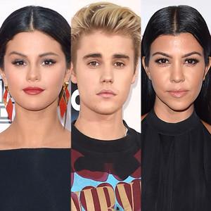 Selena Gomez, Justin Bieber, Kourtney Kardashian