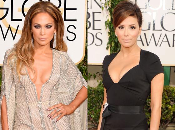 Eva Longoria, Jennifer Lopez, Golden Globes