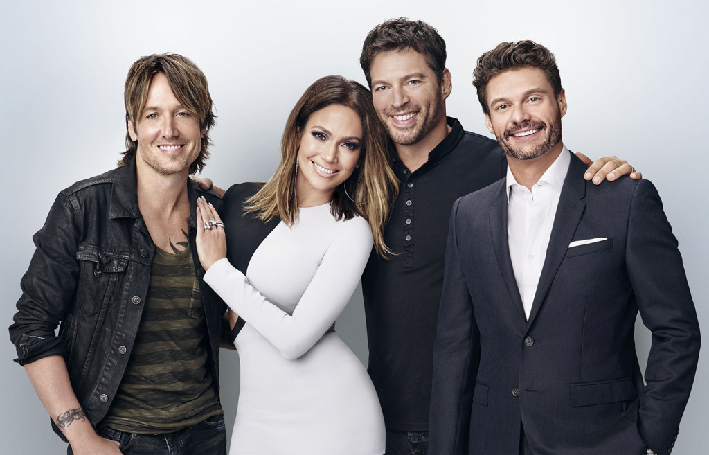 Keith Urban, Jennifer Lopez, Harry Connick, Jr., Ryan Seacrest, American Idol