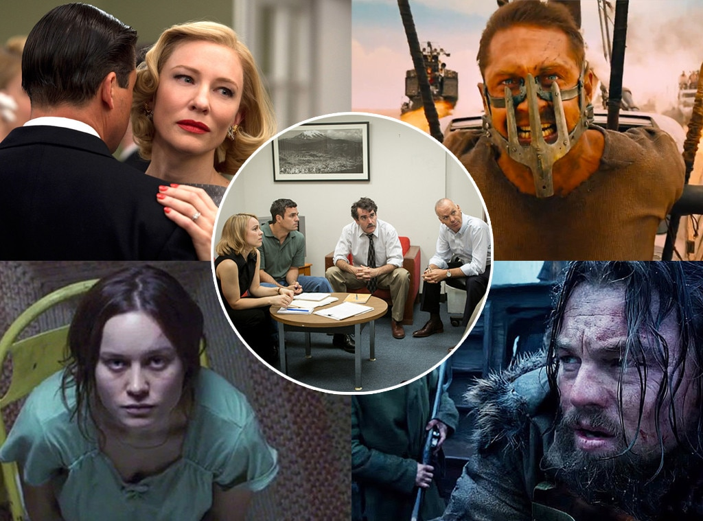 Carol, Mad Max: Fury Road, The Revenant, Room, Spotlight