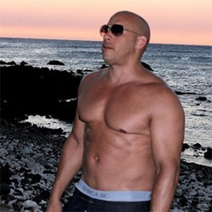 Vin diesel appears shirtless, proves he definitely doesn't h.