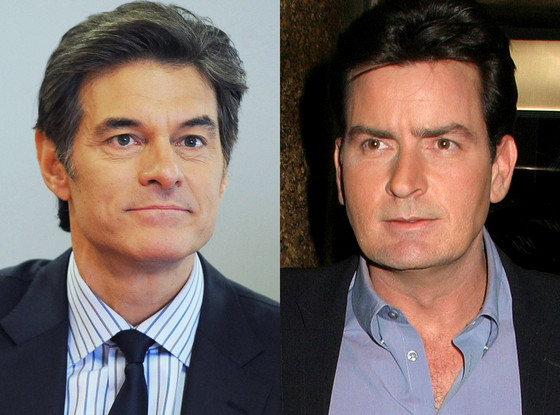 Charlie Sheen, Dr. Oz