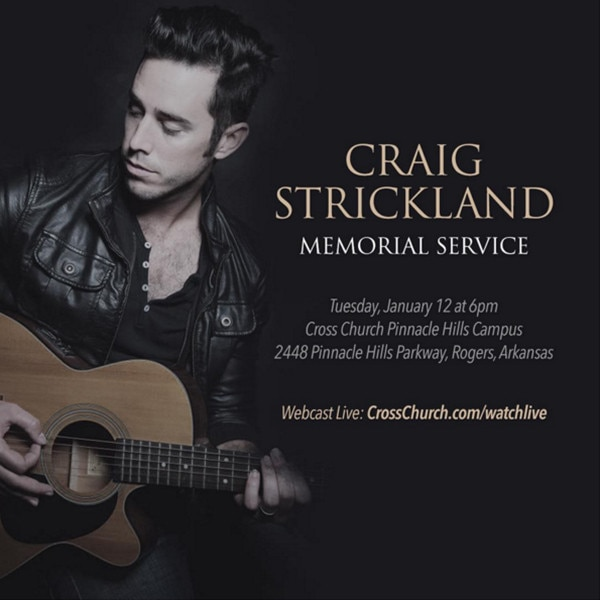 Craig Strickland, Memorial Service Photo