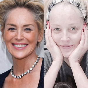 Sharon Stone, No Makeup