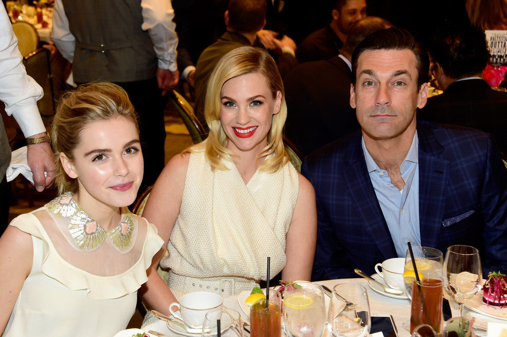January Jones, Jon Hamm, Kiernan Shipka