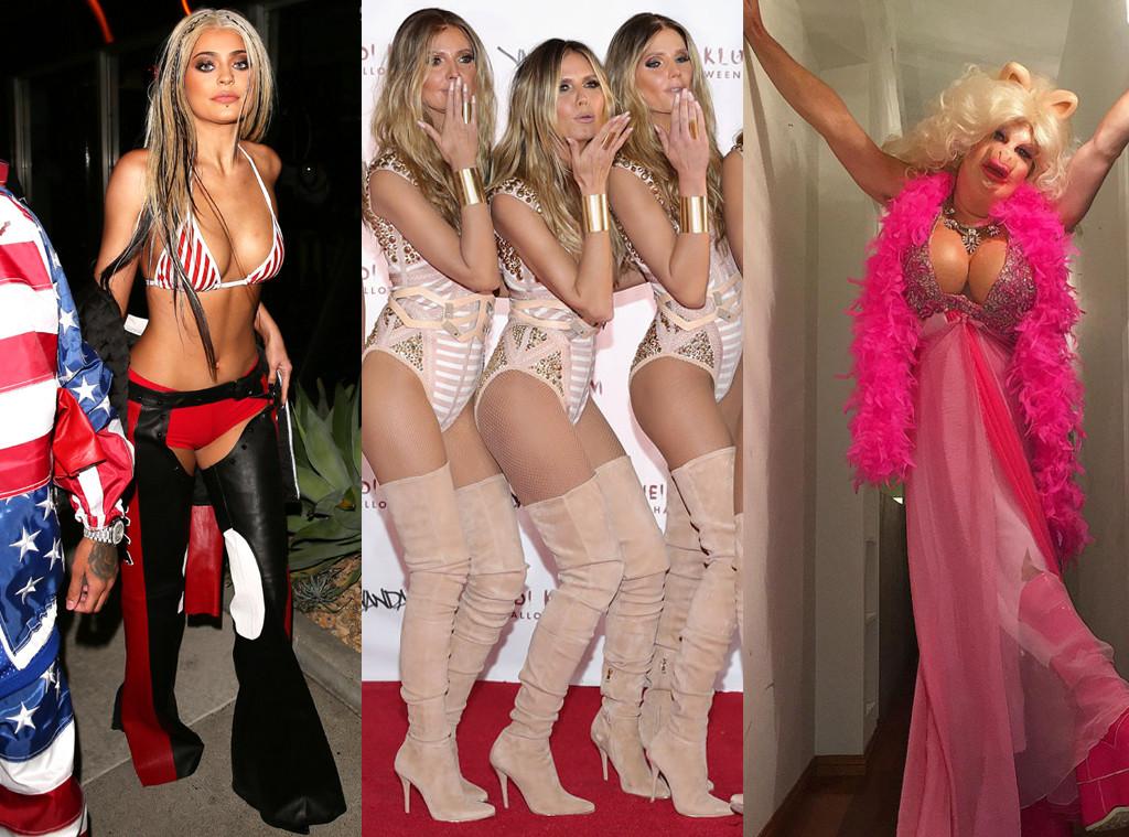 Kylie Jenner, Heidi Klum, Colton Hayes, Halloween