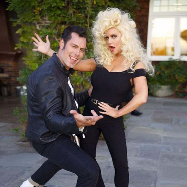 Jessica Simpson And Hubby Eric Johnson Give Us Some Grease Realness For Halloween