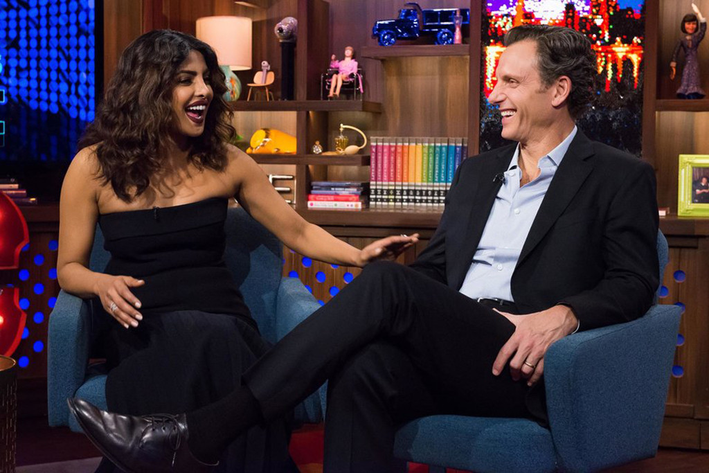 Priyanka Chopra, Tony Goldwyn, Watch What Happens Live