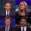 Seth Meyers, Samantha Bee, Stephen Colbert, Jimmy Kimmel