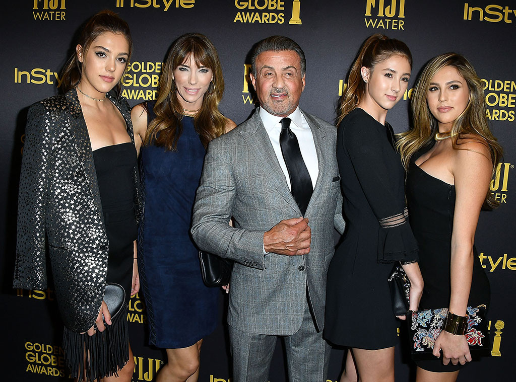 Sylvester Stallone, Jennifer Flavin, Scarlet Rose Stallone, Sophia Rose Stallone, Sistine Rose Stallone