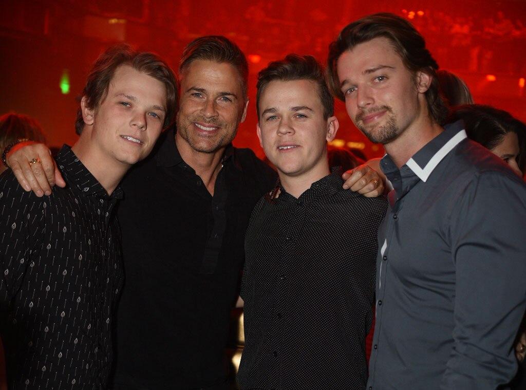 Rob Lowe, John Lowe, Patrick Schwarzenegger