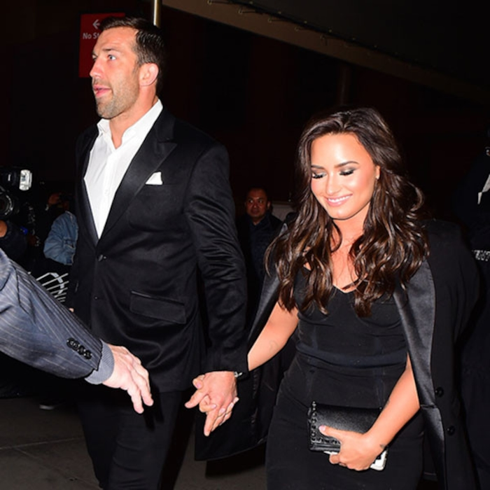 Demi Lovato And Luke Rockhold Step Out Holding Hands At Ufc Fight Night In New York City E News