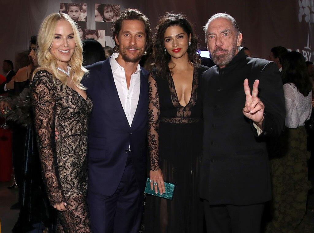Eloise Broady, Matthew McConaughey, Camila Alves, Paul Mitchell, Baby2Baby Gala