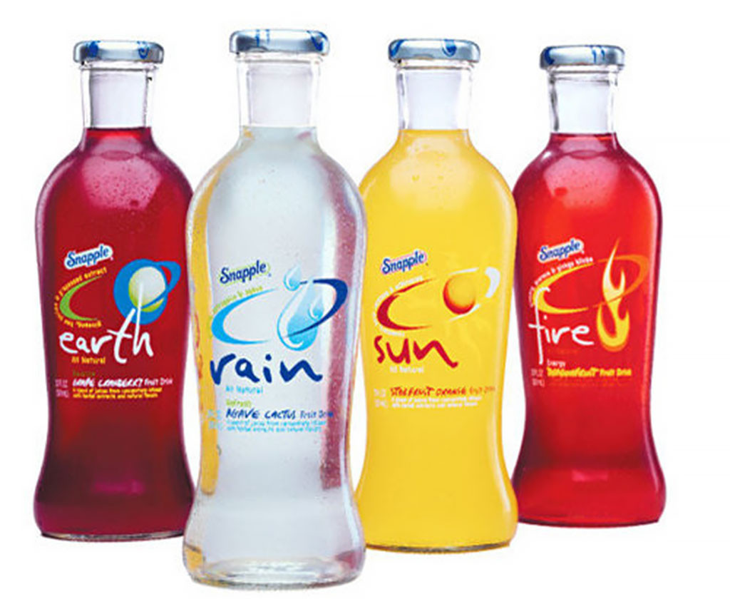 Snapple Elements, Discontinued Foods