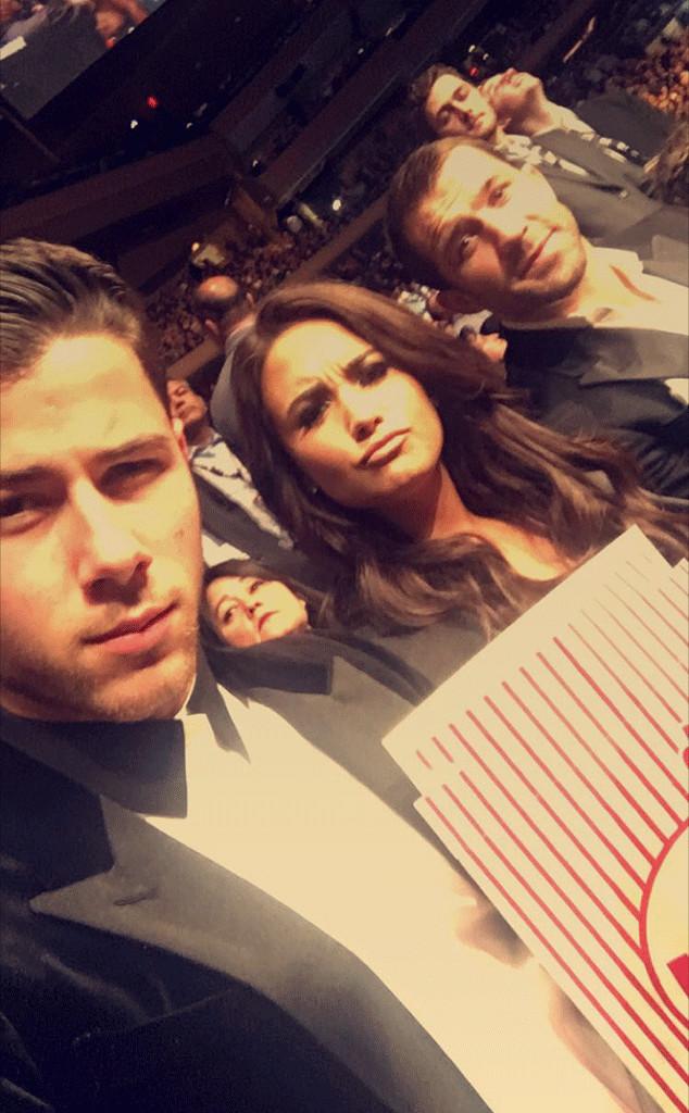 Nick Jonas, Demi Lovato, Luke Rockhold