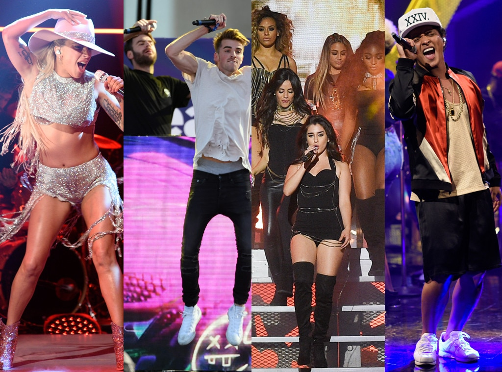 Lady Gaga, The Chainsmokers, Bruno Mars, Fifth Harmony, AMAs performers