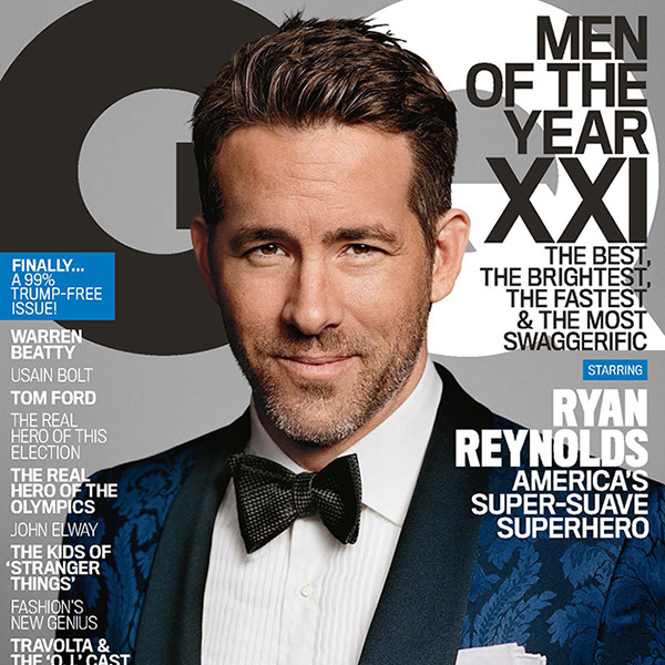 Ryan Reynolds, GQ Men of the Year Issue