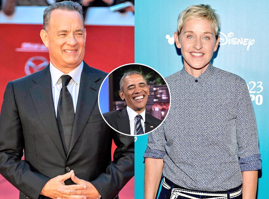 Tom Hanks, Ellen Degeneres, President Barack Obama