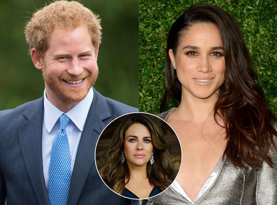 Prince Harry, Meghan Markle, Elizabeth Hurley, The Royals