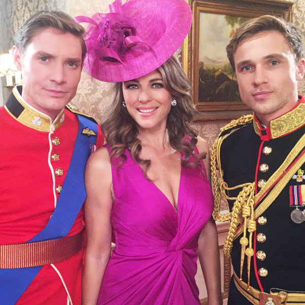 Max Brown, Elizabeth Hurley, William Moseley, The Royals, Instagram