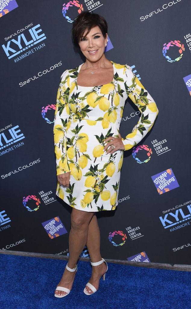 Kris Jenner, Lemon Dress