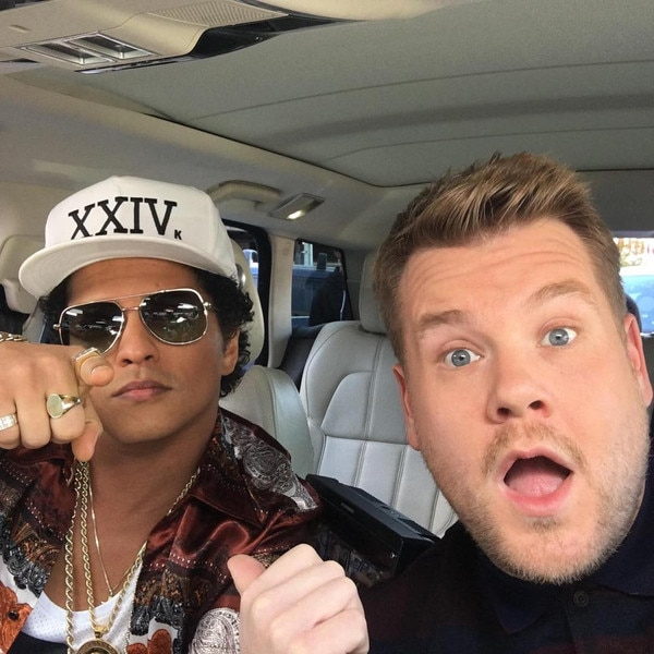 Bruno Mars, James Corden, Instagram