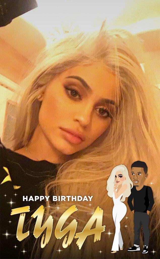 Kylie Jenner, Tygas Birthday, Snapchat