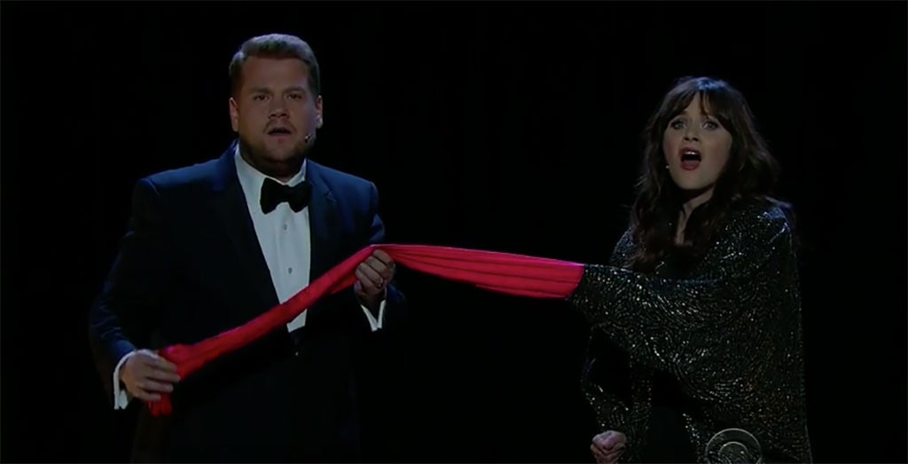 James Corden, Zooey Deschanel