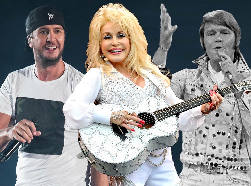 Luke Bryan, Glen Campbell, Dolly Parton