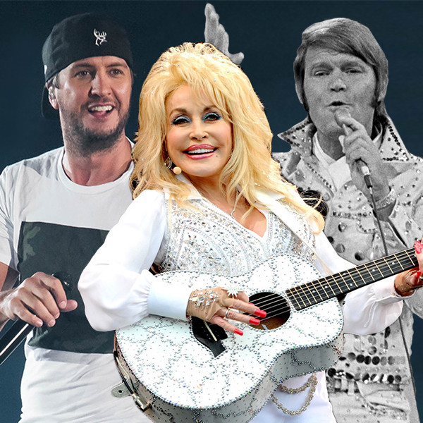 Luke Bryan, Glen Campbell, Dolly Parton