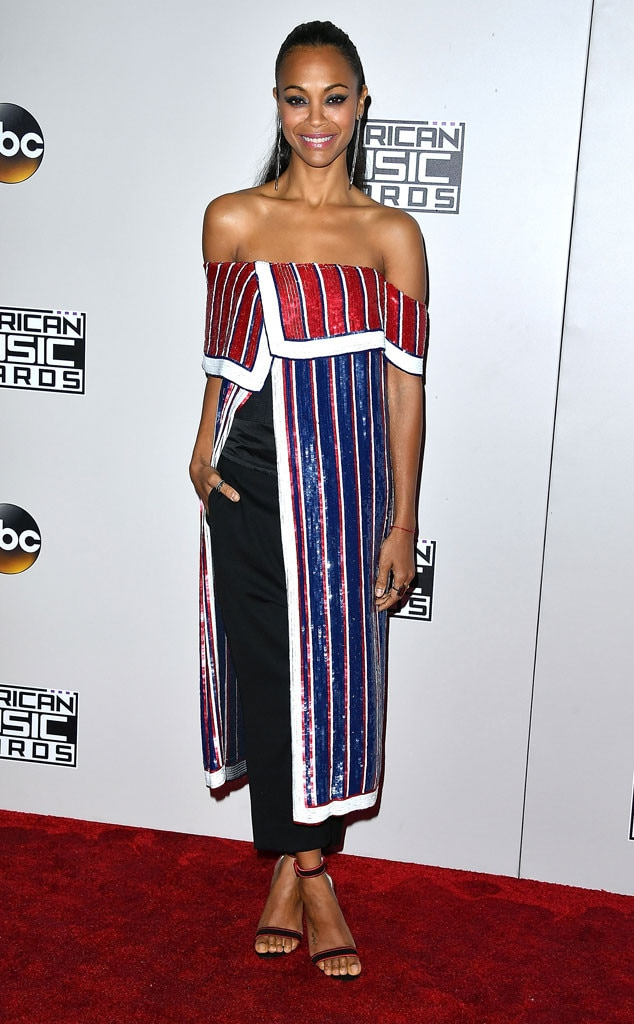 Zoe Saldana, 2016 American Music Awards