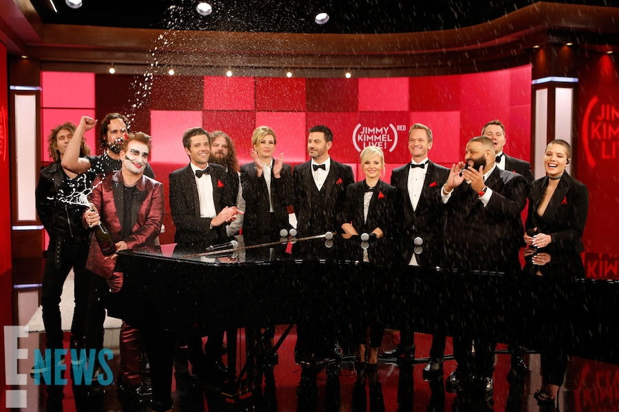 Jimmy Kimmel Live, Bono, Julia Roberts, Channing Tatum, Kristen Bell, DJ Khaled, Neil Patrick Harris, Halsey, The Killers