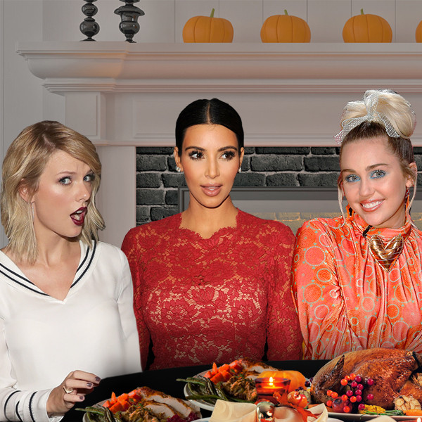 Celeb Thanksgiving, Taylor Swift, Miley Cyrus, Kim Kardashian, Jay Z, Beyonce