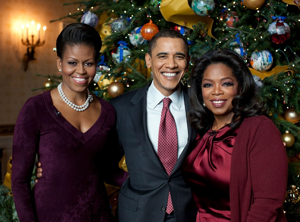 Celebs With Obama, Barack Obama, Michelle Obama, Oprah Winfrey