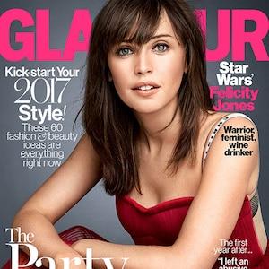 Felicity Jones, Glamour, January 2017 Cover