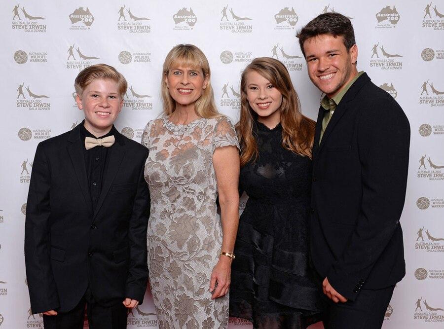 Robert Irwin, Terri Irwin, Bindi Irwin, Chandler Powell, Steve Irwin Gala Dinner