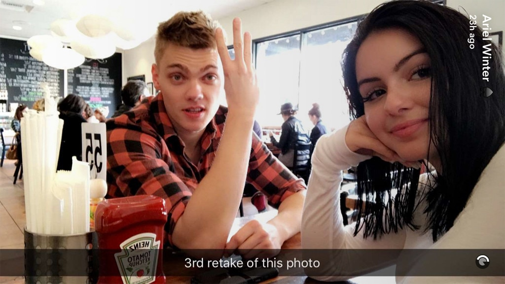 Ariel Winter, Levi Meaden, Snapchat