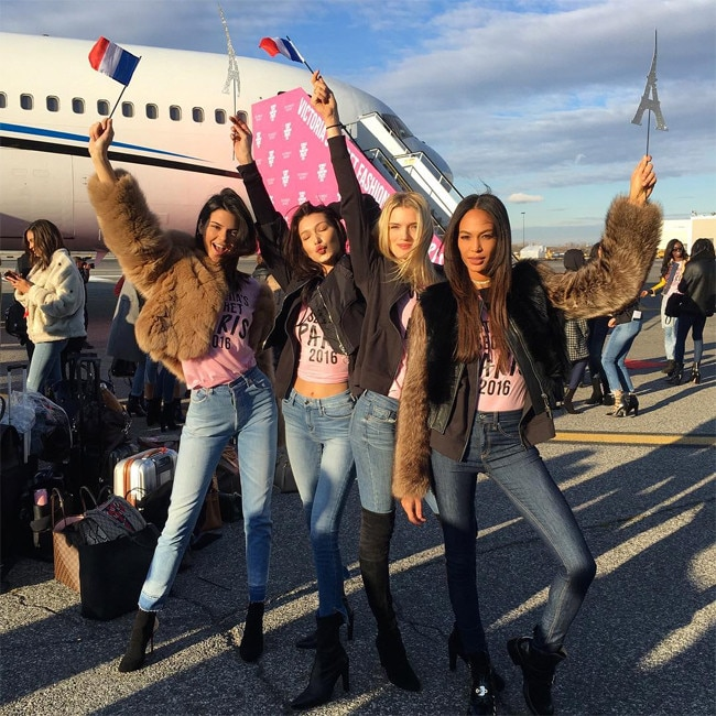 Victoria's Secret Angels jet to Paris for annual fashion show